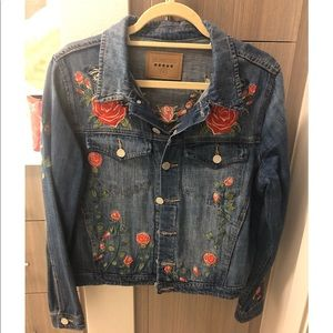 Blank NYC denim embroidered jacket